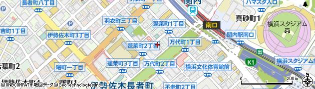 神奈川県横浜市中区蓬莱町周辺の地図