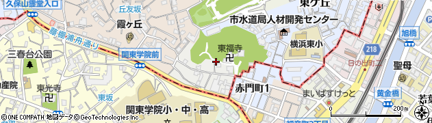 神奈川県横浜市西区赤門町周辺の地図