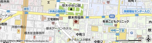 神奈川県厚木市周辺の地図