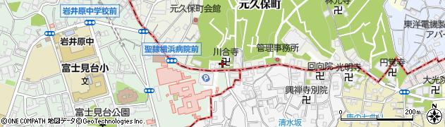 川合寺周辺の地図