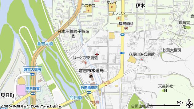 〒682-0025 鳥取県倉吉市八屋の地図