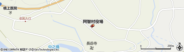 長野県下伊那郡阿智村周辺の地図