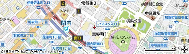 横浜市周辺の地図