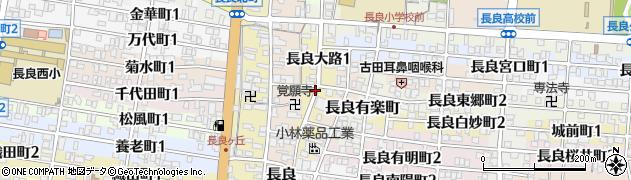 岐阜県岐阜市長良大路周辺の地図