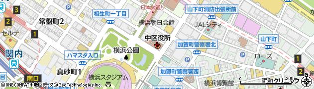 神奈川県横浜市中区周辺の地図