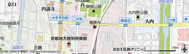 鶴集寺周辺の地図
