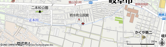 岐阜県岐阜市若水町周辺の地図