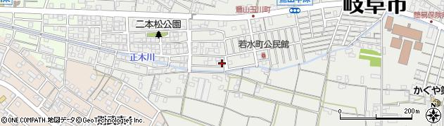 岐阜県岐阜市月見町周辺の地図