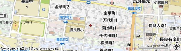 岐阜県岐阜市菊水町周辺の地図