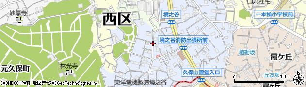 神奈川県横浜市西区境之谷周辺の地図