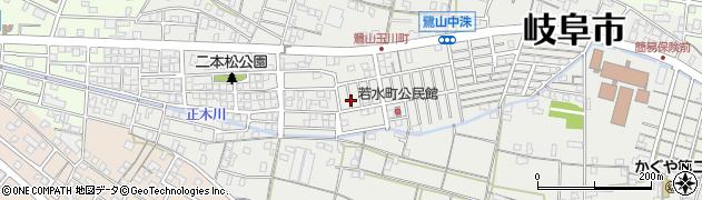 岐阜県岐阜市鷺山周辺の地図