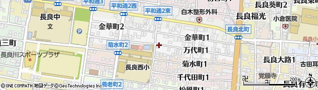 岐阜県岐阜市万代町周辺の地図