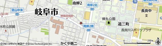 岐阜県岐阜市本通周辺の地図