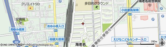 東急ドエル海老名プラーザ周辺の地図