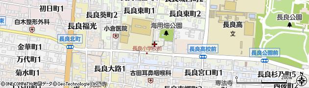 岐阜県岐阜市長良校前町周辺の地図