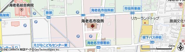神奈川県海老名市周辺の地図