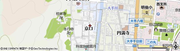 京都府舞鶴市京口周辺の地図