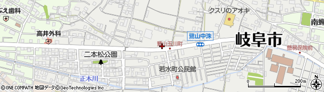 岐阜県岐阜市鷺山緑ケ丘周辺の地図