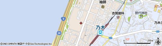 島根県松江市西嫁島周辺の地図