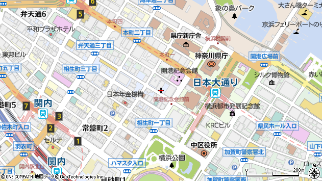 神奈川県横浜市中区弁天通 郵便番号 〒231-0007:マピオン郵便番号
