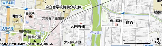 京都府舞鶴市大内野町周辺の地図