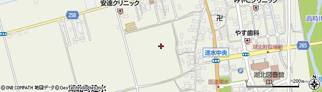 滋賀県長浜市湖北町速水周辺の地図