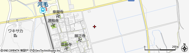 滋賀県長浜市湖北町河毛周辺の地図