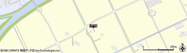 島根県出雲市平田町(船田)周辺の地図