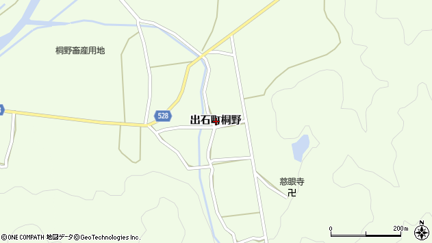 〒668-0242 兵庫県豊岡市出石町桐野の地図