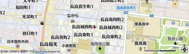 岐阜県岐阜市長良城西町周辺の地図