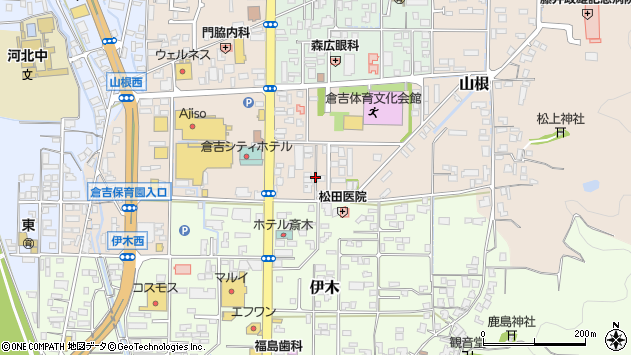 〒682-0023 鳥取県倉吉市山根の地図