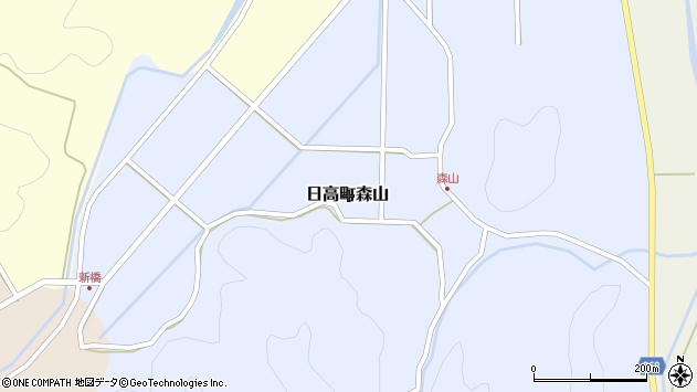 〒669-5353 兵庫県豊岡市日高町森山の地図