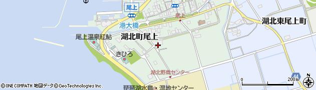 滋賀県長浜市湖北町尾上周辺の地図