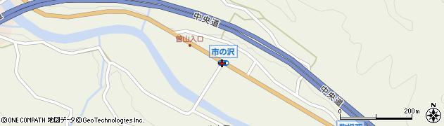 市の沢周辺の地図