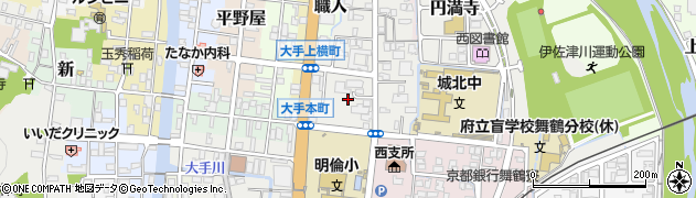 京都府舞鶴市北田辺周辺の地図