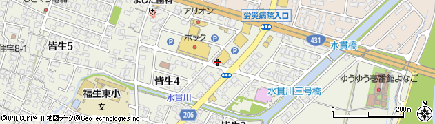 アリカフェ 皆生店周辺の地図