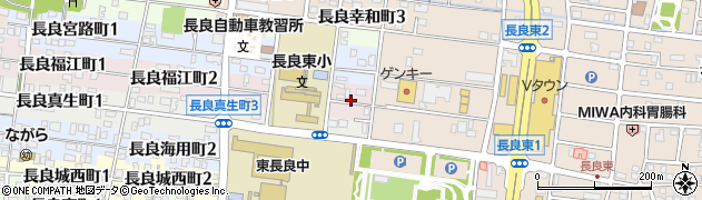 岐阜県岐阜市長良福江町周辺の地図