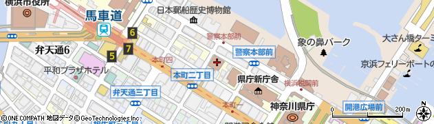 神奈川県横浜市中区元浜町周辺の地図