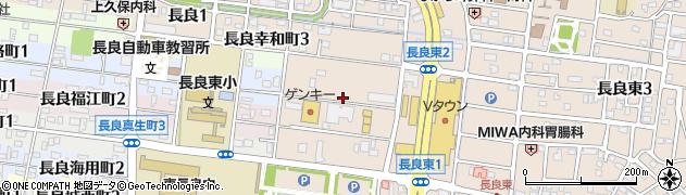 岐阜県岐阜市長良(井田)周辺の地図