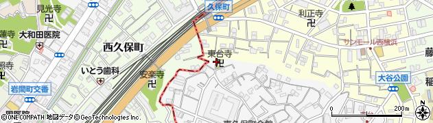 東台寺周辺の地図