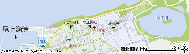 滋賀県長浜市湖北東尾上町周辺の地図