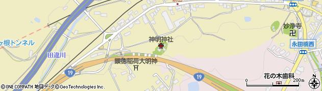 神明神社周辺の地図