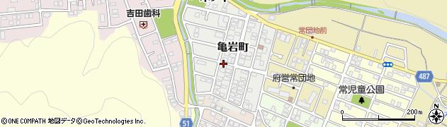 京都府舞鶴市亀岩町周辺の地図