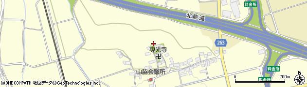 滋賀県長浜市湖北町山脇周辺の地図
