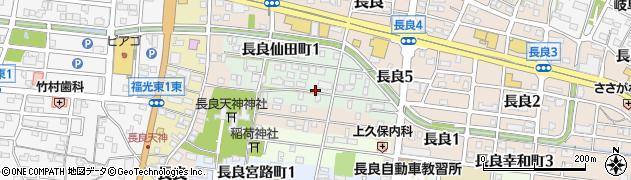 岐阜県岐阜市長良森町周辺の地図