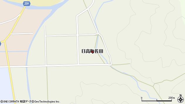 〒669-5351 兵庫県豊岡市日高町佐田の地図