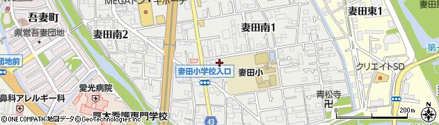神奈川県厚木市妻田南周辺の地図