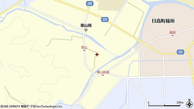 〒669-5361 兵庫県豊岡市日高町栗山の地図