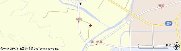 兵庫県豊岡市日高町栗山周辺の地図