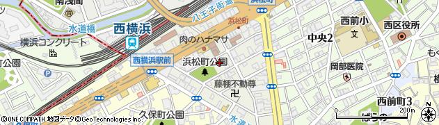 神奈川県横浜市西区浜松町周辺の地図